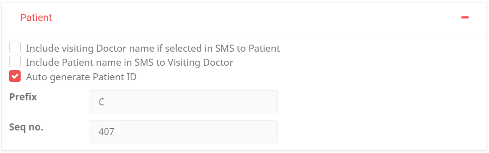 Clinic Preference - Patient